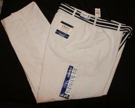 Izod White NWT Newport Oxford Pants 43 x 32 Straight Leg Flat Front - $81.17