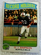 O.J. Simpson 1975 Topps Card#255 Very Good Condition-Bills Legend RB/Hal... - $9.89