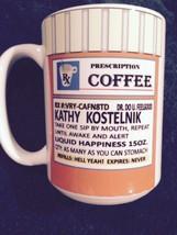 PRESCRIPTION COFFEE MUG - CHOOSE COLOR INTERIOR FREE PERSONALIZATION - NAME - $9.89+