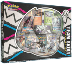 Pokemon TCG Team Skull Pin Collection Box 5 Booster Packs + 2 GX Cards - $33.95