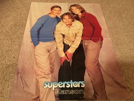 Hanson BBMAK teen magazine poster clipping full body shot red sweater Bop