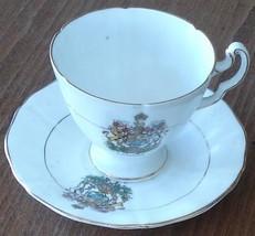 Lovely Vintage Royal Adderley Footed Cup & Saucer Set - Canada Crest - R... - $24.74