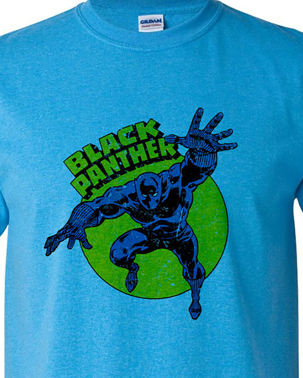 Black Panther T shirt retro Marvel comic book superhero cotton blend graphic tee