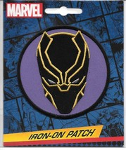 Marvel Comics The Black Panther Mask Logo Embroidered Patch NEW UNUSED - $7.84