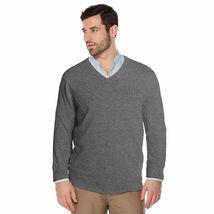 Berlioni Italy Men's Premium Slim Fit Microfiber V-Neck Dress Pullover Sweater image 6
