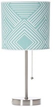"Sweet Potato Soho Mod Table Lamp with Aqua Print Shade, 18"" x 8.5"" x 8.5... - $83.18"