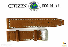 Citizen Eco-Drive CA0621-05L 22mm Hell Braun Leder Armbanduhr Band Armband - $67.19