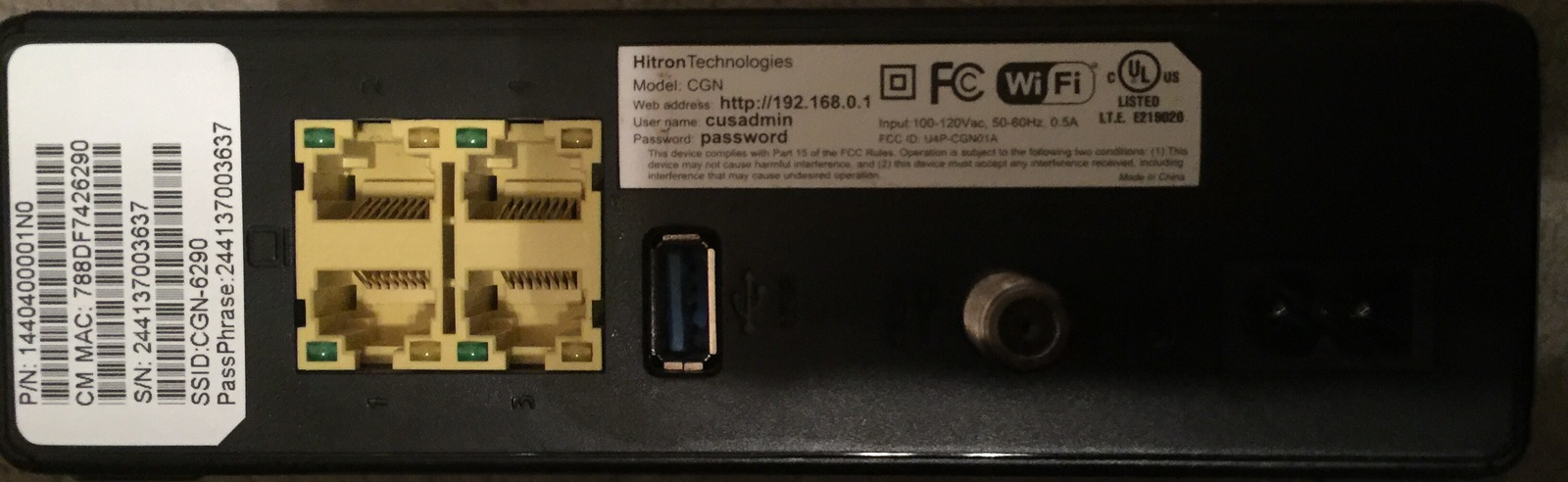 Hitron Technologies CGN Wireless Modem and 50 similar items