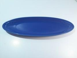 Longaberger Pottery Cornflower Blue Corn on Cob Appetizer Plate Olive Tray - $19.99
