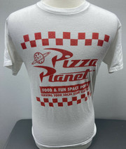 Pizza Planet Toy Story Graphic T-Shirt Size Small White Disney Pixar shirt - $10.39