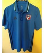Adidas FC Dallas 96 MLS Climalite Soccer Polo Shirt Women's Large - $15.80