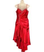 Red sleeveless rope straps halter back dress  - $29.99