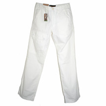TIMBERLAND Mens White Cotton Pants W30 L34 Straight Leg Cargo Chinos Off... - $50.00