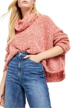 Free People BFF Cowl Neck Sweater M Red Lotus NEW - $52.45