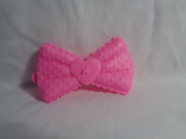 Full Size Lalaloopsy Doll Silly Hair Jewel Replacement Plastic Pink Bow - $1.56