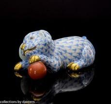 Herend Labrador Puppy with Ball Porcelain Figurine, VHB15514, Blue - $195.00