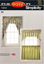 Simplicity It's So Easy Pattern 1414 Valances and Cafe Curtains - $11.76