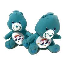 "Nanco Care Bears Heartsong Plush Teddy 7"" Blue Music Note Hearts Sitting... - $18.70"
