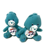 "Nanco Care Bears Heartsong Plush Teddy 7"" Blue Music Note Hearts Sitting... - $18.70"