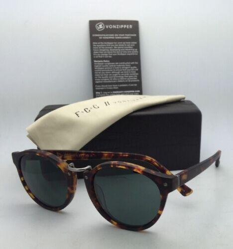 F.C.G. VONZIPPER Sunglasses VZ STAX Tortoise & Pewter Frame w/ Grey-Green Lenses image 12