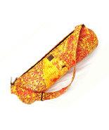 Cotton Hand Printed Shoulder Bag Has One Zipper For Closure Yoga Bag Tra... - $26.99
