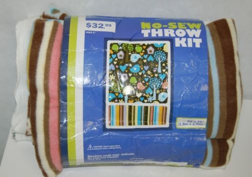 Eugene Textiles No Sew Throw Blanket One Hundred Percent Polyester Fleece Easy