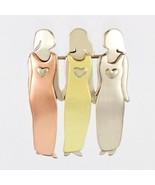 Three Sisters or 3 Best Friends Pin 3 Sisters Girlfriends Pin Handmade T... - $18.95