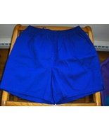 Athletic Works Mens Shorts Twill Elastic Classic Blue Cotton Large NEW A... - $10.00