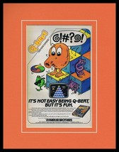 Q Bert 1983 Atari Coleco Framed 11x14 ORIGINAL Vintage Advertisement - $41.71