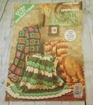 Leisure Arts Leaflet 44 Classic Afghans to Knit Crochet Extra Easy Instr... - $6.50