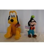 "Disney Pluto Kohls Cares Plush Stuffed Animal Toy 12"" + Disney Goofy 9"" ... - $13.87"