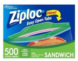 """NEW ZIPLOC 500 Sandwich Bag Smart Zip (4 x 125ct) 6 1/2"""" x 5 7/8"""" - $22.99"""