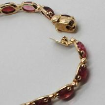Bracelet Gold Pink 9k Type Tennis with Tourmaline Pink, Made in Italy image 6