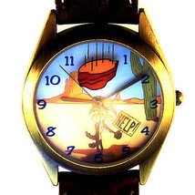 Wile E. Coyote Fossil Warner Bros Watch Collection, Mans LR-Band HTF Unw... - $113.70