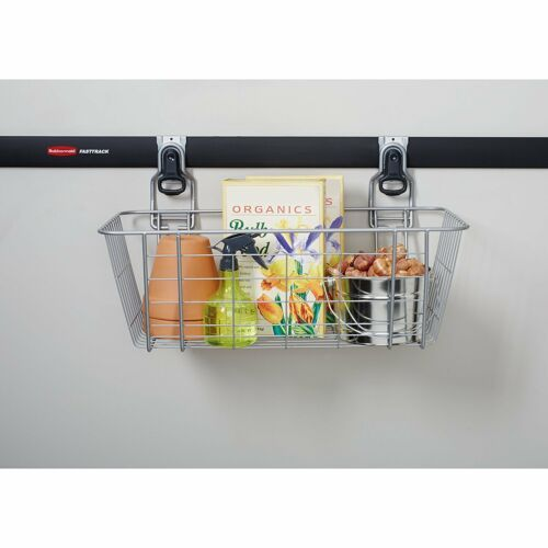 Wall Mounted Hanging Mesh Basket Easy Snap Detachable 50 Lbs Holds Rubbermaid
