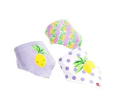 Baby's Gift Lovley 3Pcs Adjustable Soft Baby Neckerchief/Saliva Towel,Lemon image 2