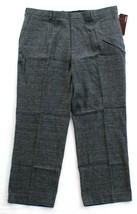 Perry Ellis Classic Fit Iron Heather Plaid Flat Front Dress Pants Men's ... - $59.99