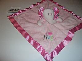 Pink Elephant Lovey Security  Blanket I Love Hugs - $12.99