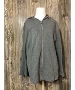 Kirkland Women's Hoodie Full Zip Sweatshirt Knit Jacket Size XL - $20.78