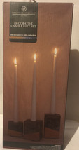 Chesapeake Bay Candle Decorative Gift Set, 3 Tapers+Cement holders Gray/... - $8.00