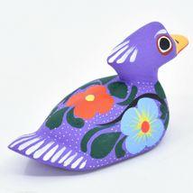 Handmade Alebrijes Oaxacan Copal Wood Carving Folk Art Duck Figurine image 4