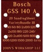 Bosch GSS 140 A - 17 Different Grits - 20 Sheet Variety Bundle III - $18.97