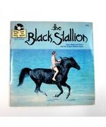 Vintage Disney The BLACK STALLION Read Along Book & 33 1/3 RPM Disneylan... - $9.99