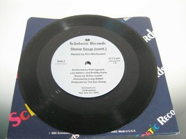 """Stone Soup Scholastic Story Spoken Word Record 33 1/3 7"""" - $6.26"""