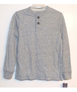 Cherokee Boys Henley Long Sleeve Gray Shirt Siz... - $7.69