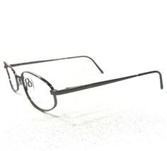 Emporio Armani 176 1303 Sunglasses Eyeglasses Frames Round Oval Silver - $37.39