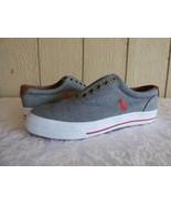 Polo Ralph Lauren Vaughn Men's Lace Sneakers, Chambray Gray, US 8 - $26.38