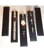 Five Black Faux Leather Bracelet Watch Ramps Jewelry Display Stands Ramp... - $16.50