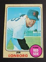 Jim Lonborg 1968 Topps Red Sox Baseball card #460  EX/NM Condition - $4.21