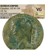 CLAUDIUS Coin w/ NERO cm NCAPR. RIC 110 Ancient Roman Imperial As coin R... - $251.10